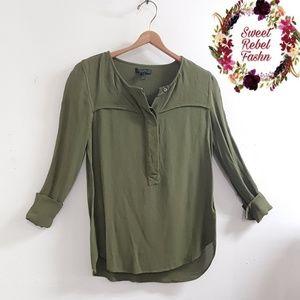 J. Crew Green Shirt size 4